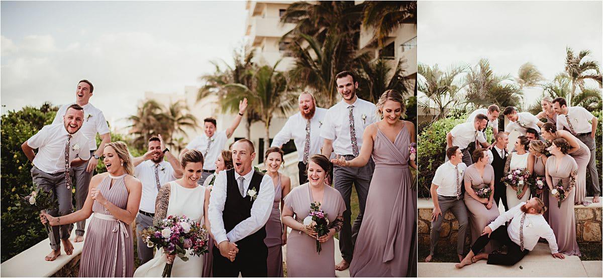 Mexico Beachfront Wedding Party