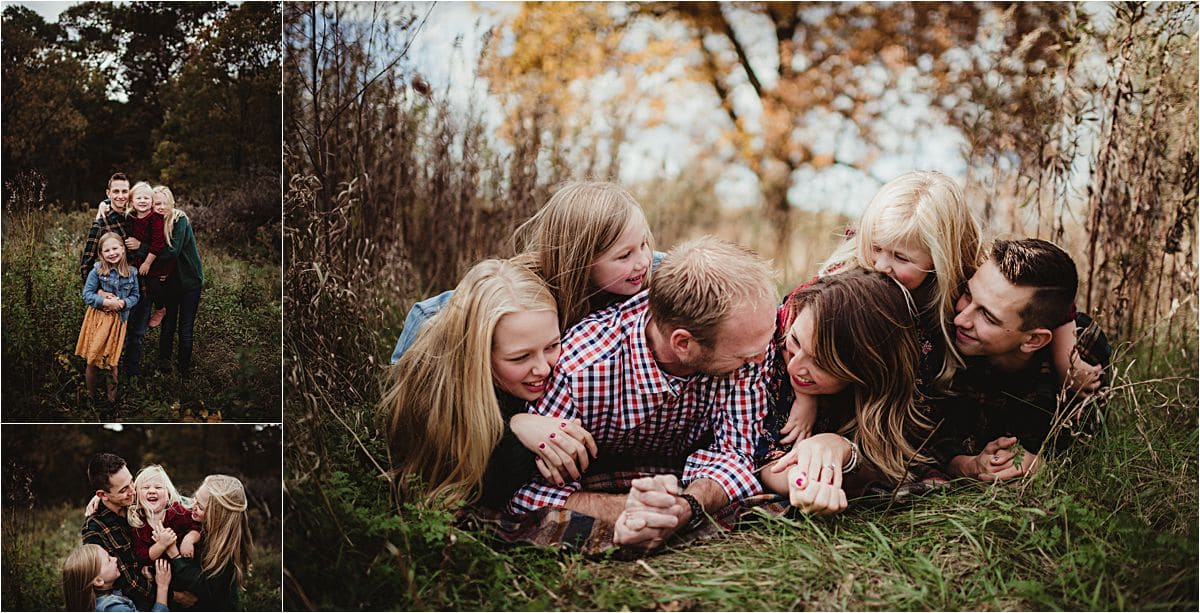 Autumn Family Session in Field