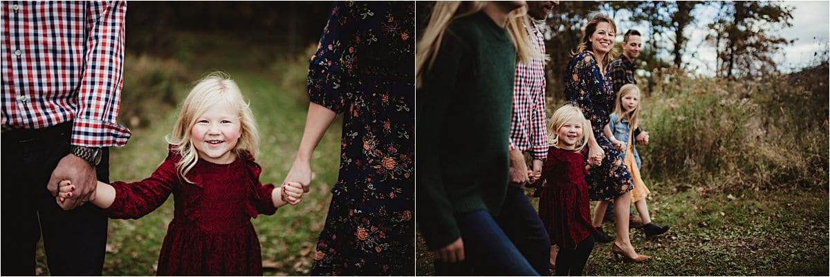 Family Holding Hands Walking