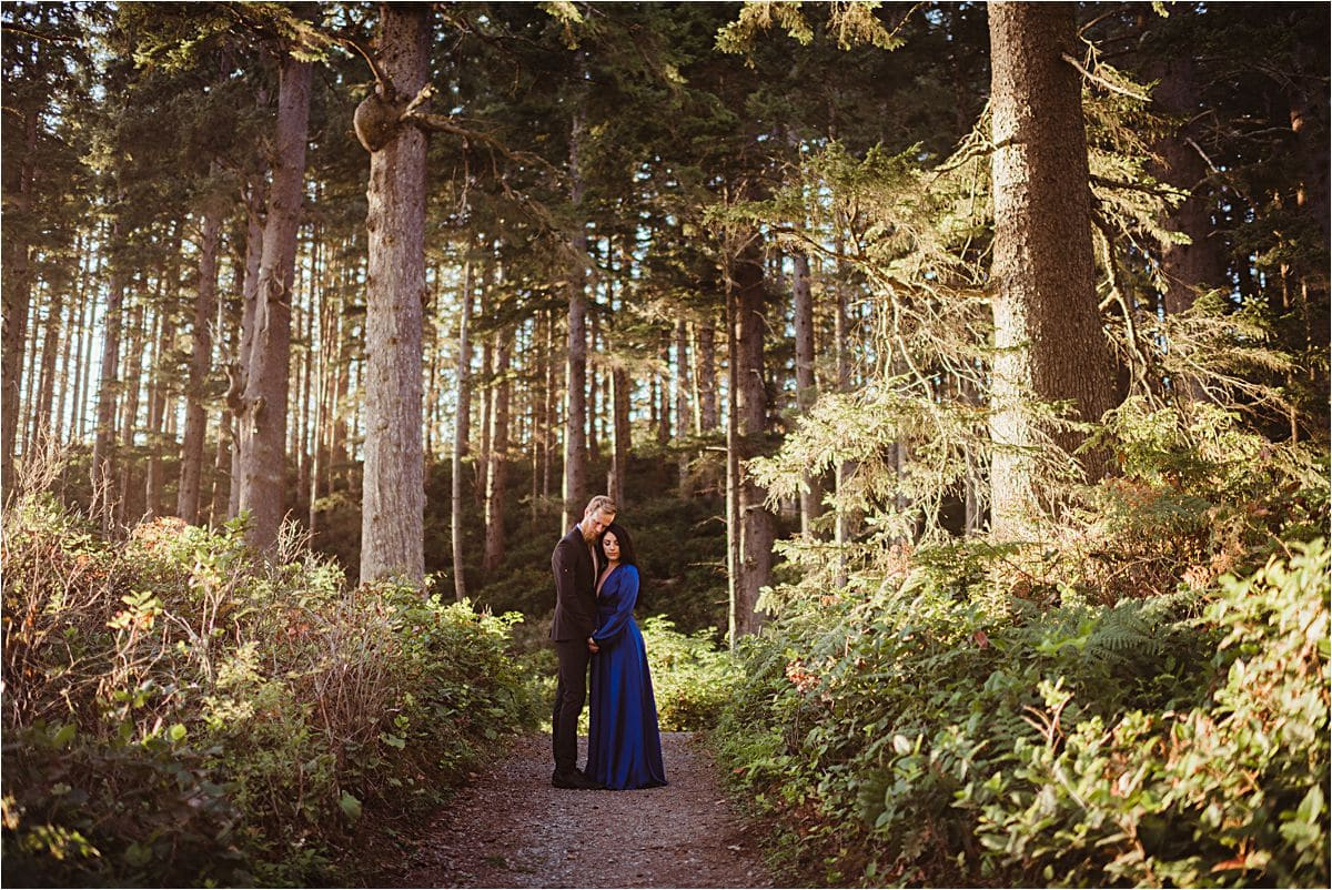 Cannon Beach Couple in Woods