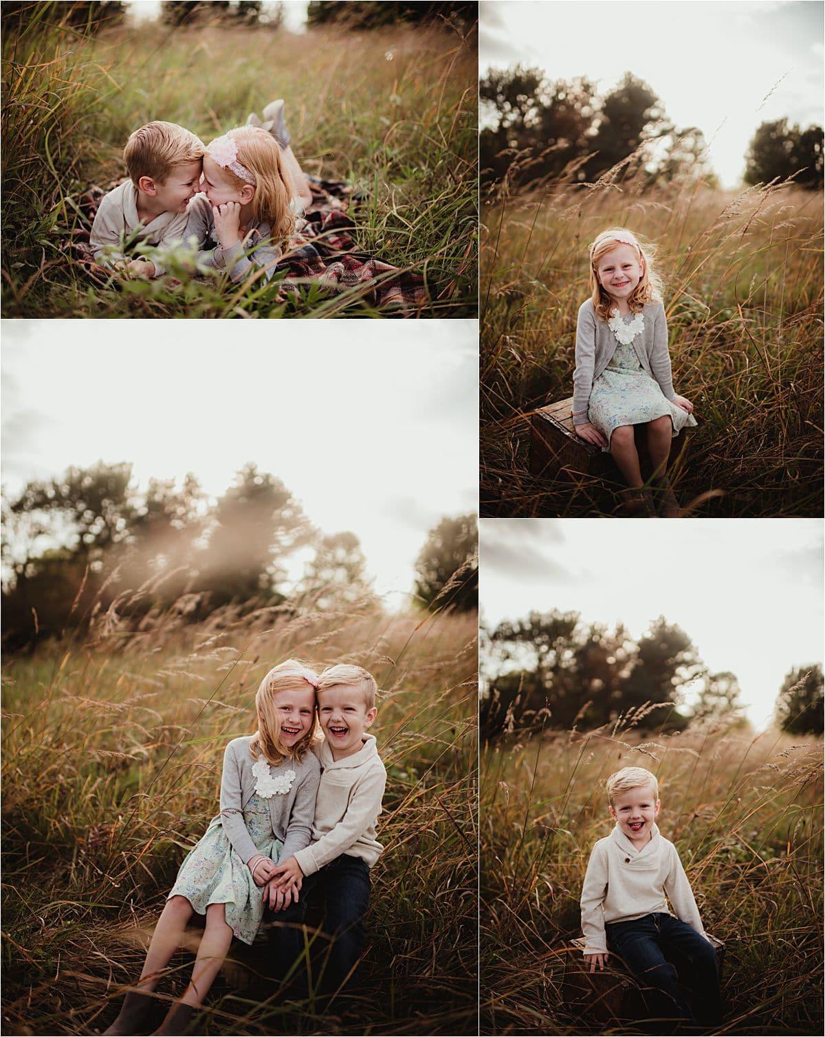 Siblings in Field