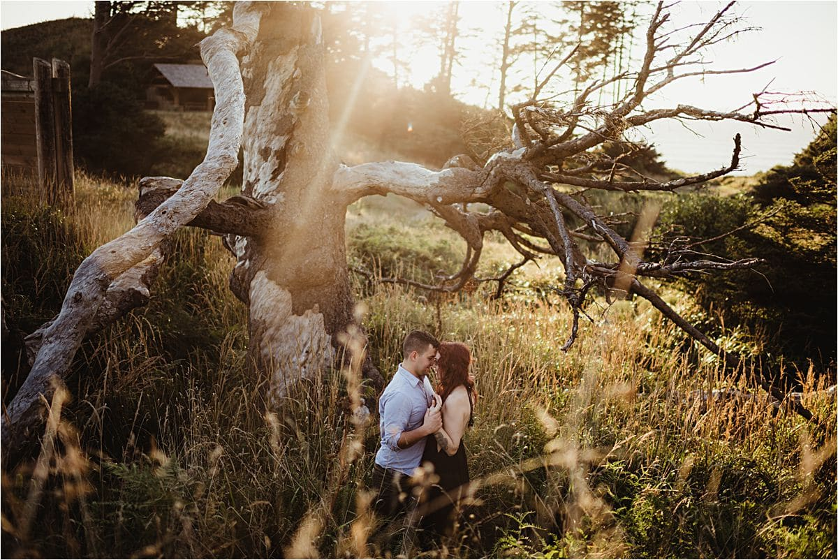 Couple in Nature at Sunset