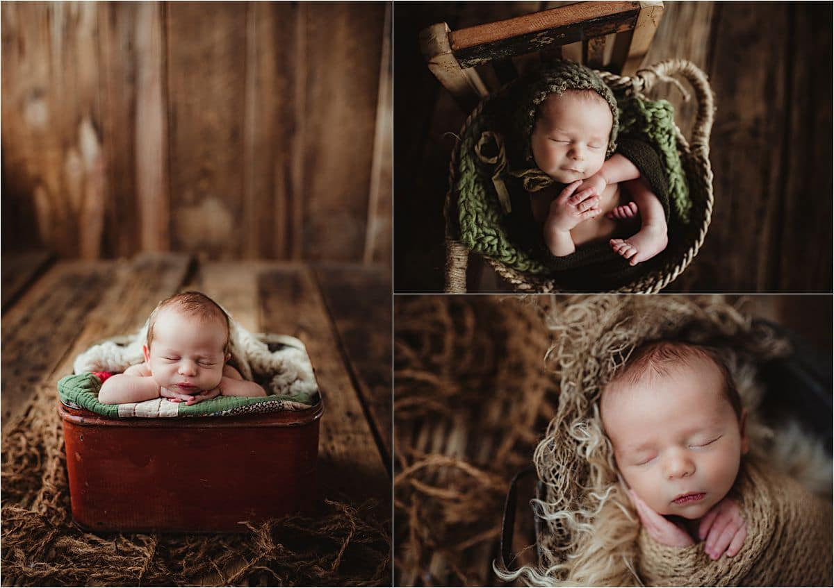 Fall Newborn Boy Session Collage