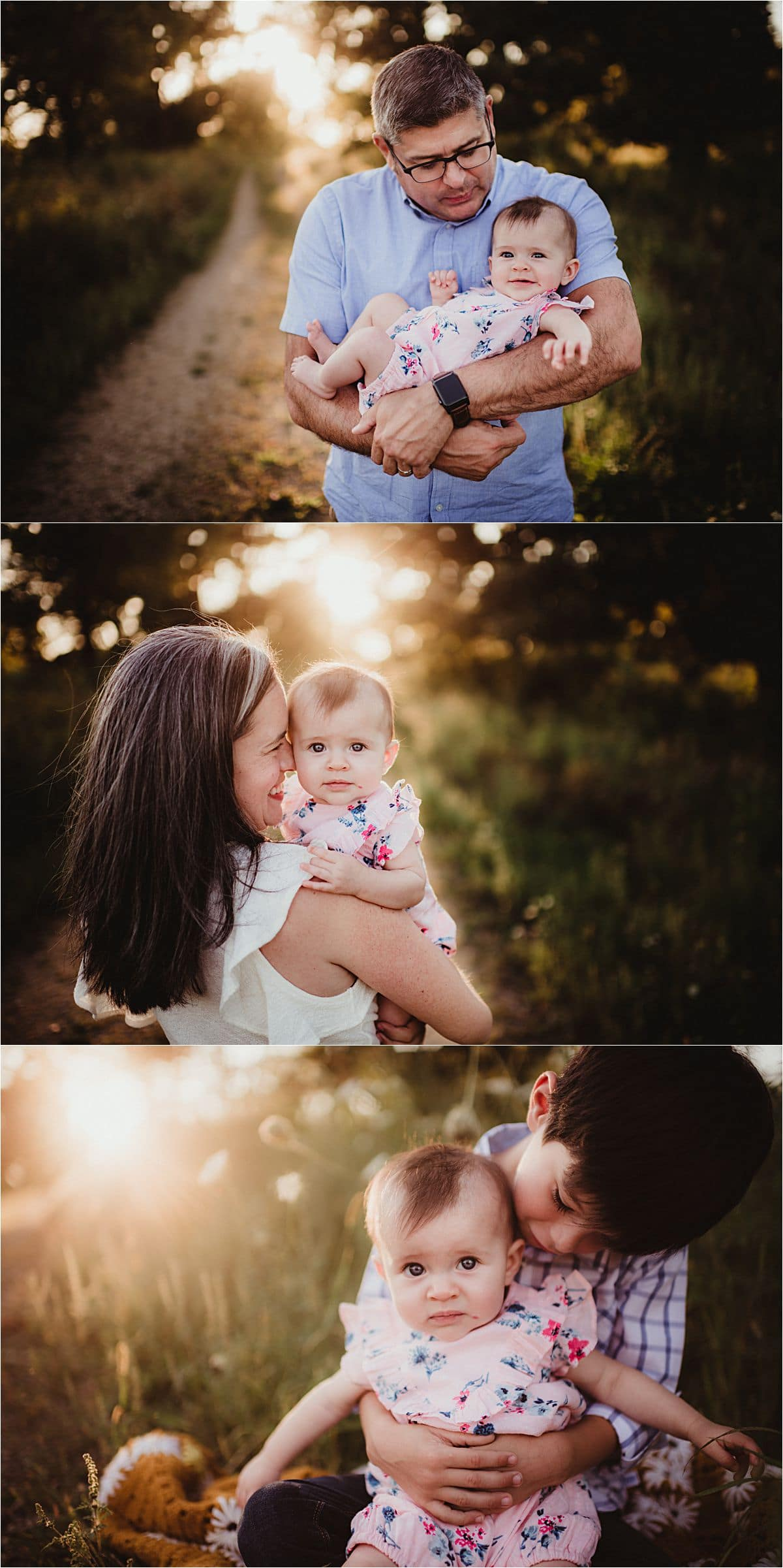 Fall Sunset Session Family Snuggles