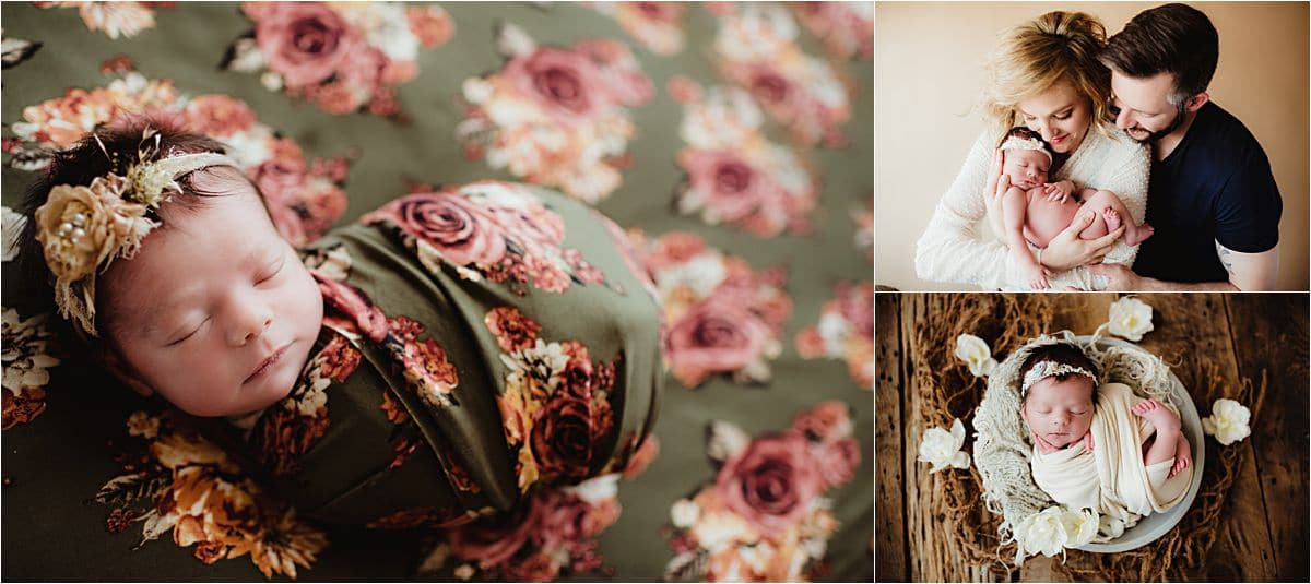 Vintage Florals Newborn Session