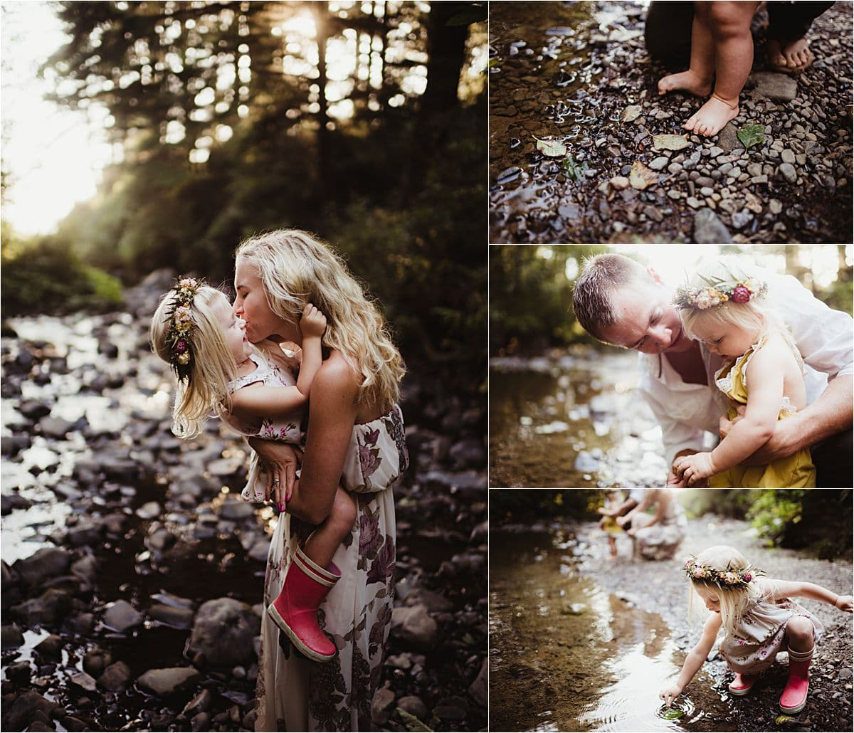 Family at Creek