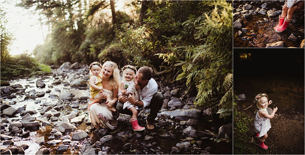 Sunset Family Session at Creek