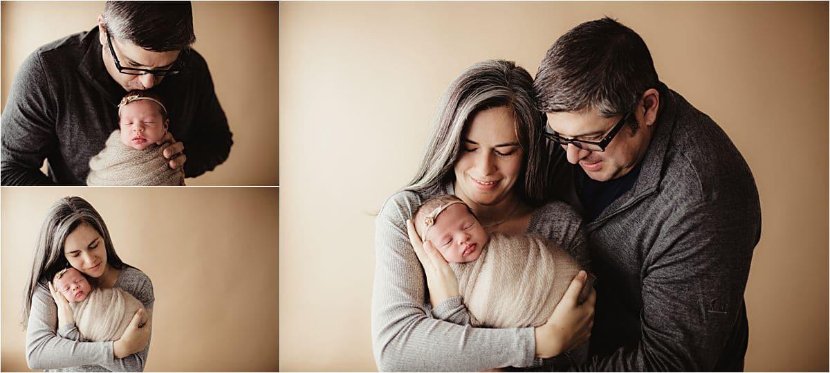 Newborn Girl With Parents