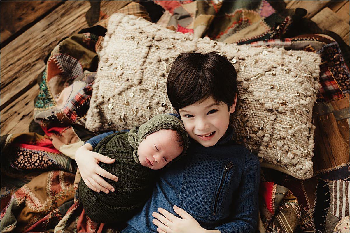 Newborn Boy with Brother