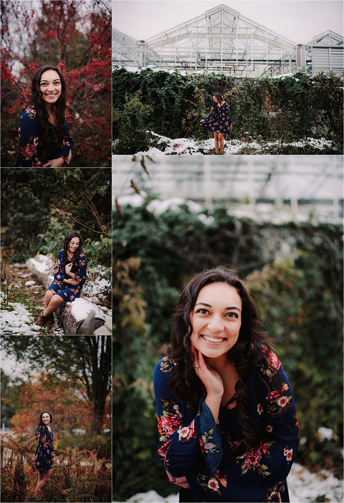 Moody Fall Senior Session in Snow