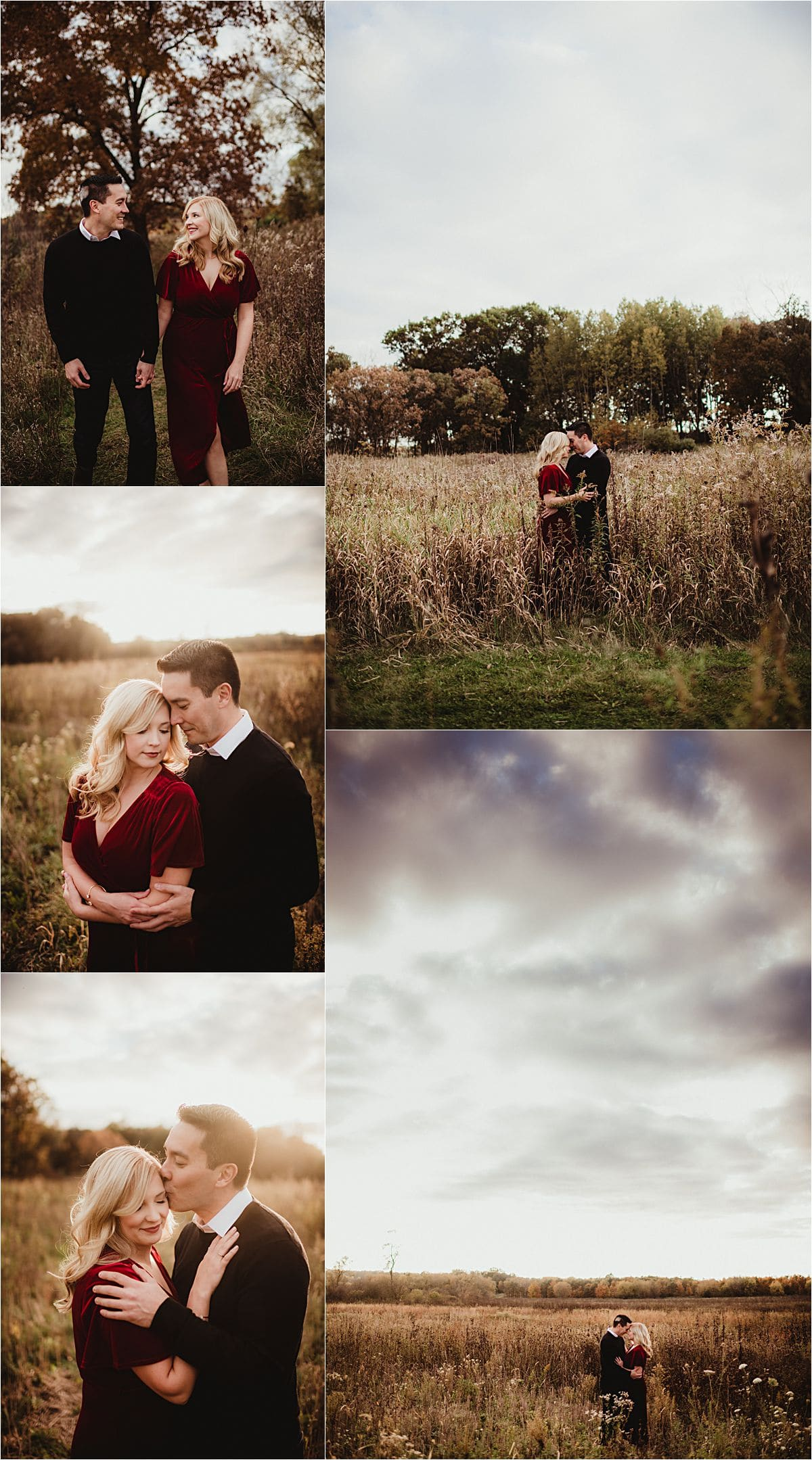 Jewel Tones Engagement Session Stormy Skies