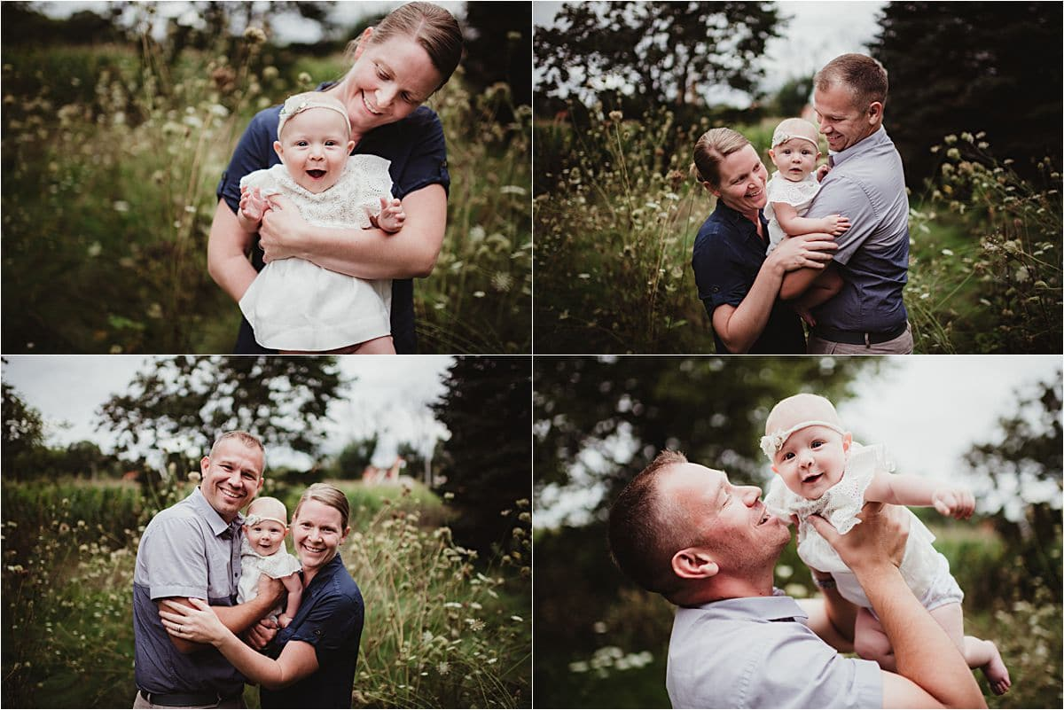 Late Summer Family Session with Baby Girl