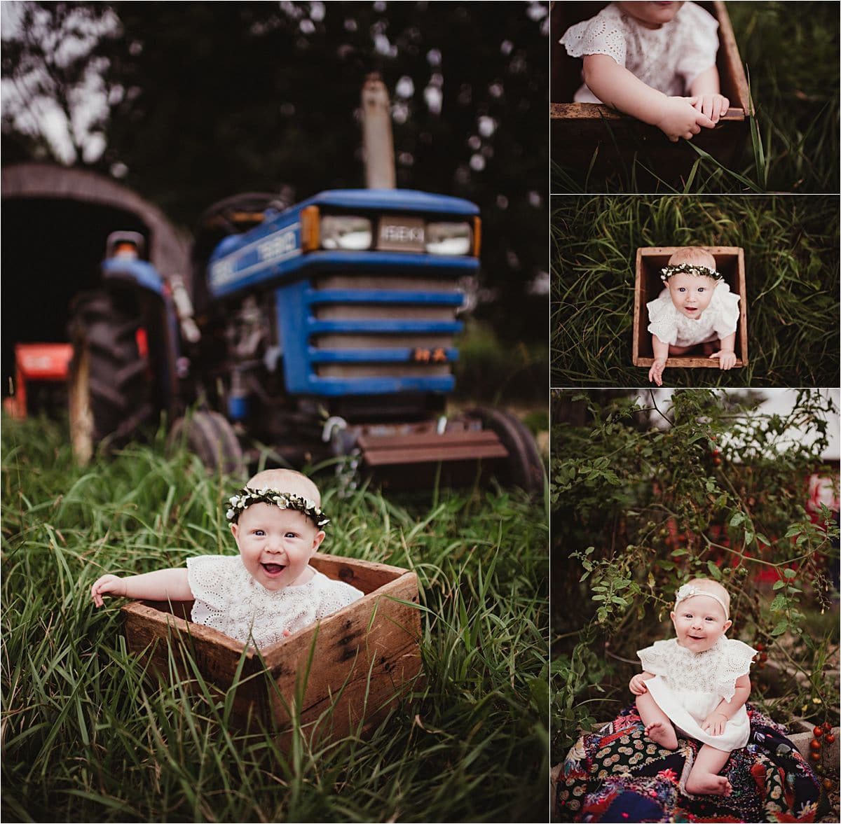 Late Summer Family Session Girl in Grass