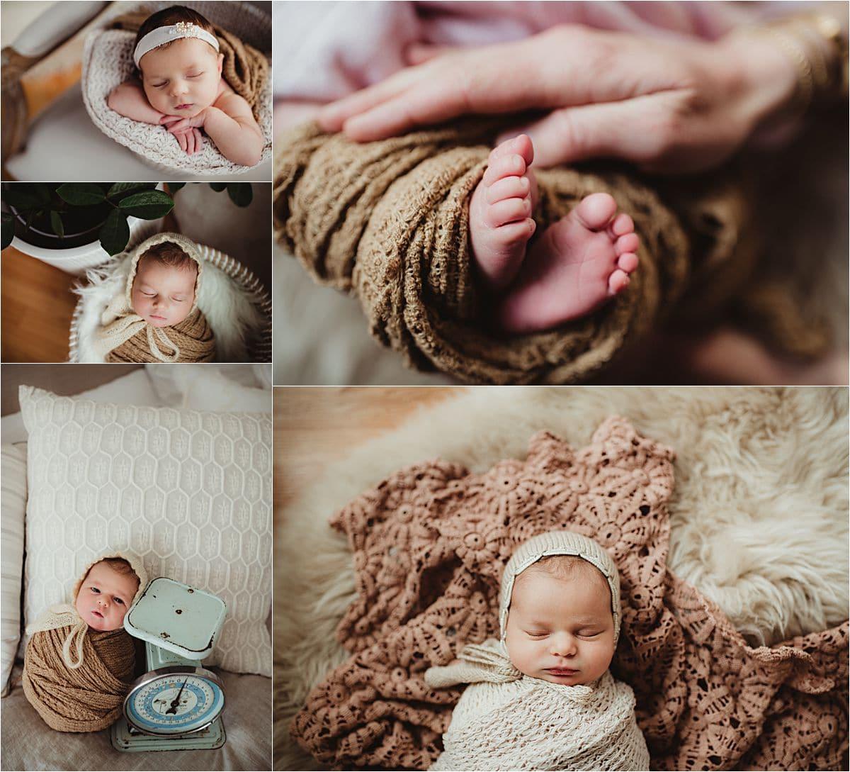 Collage Lifestyle Newborn Session