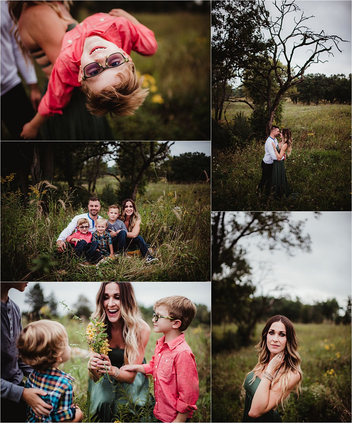 Marsh Wildflower Session Family Collage
