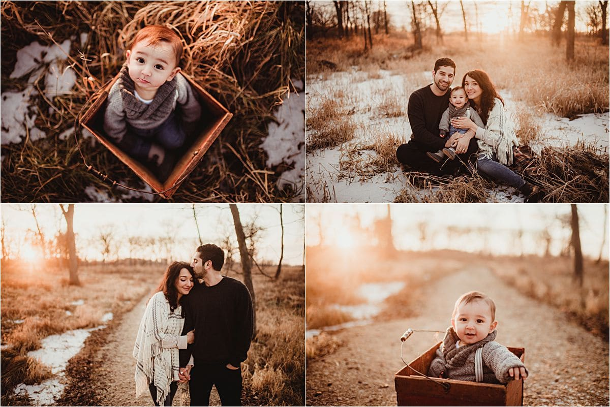 Winter Marsh Family Session at Sunset