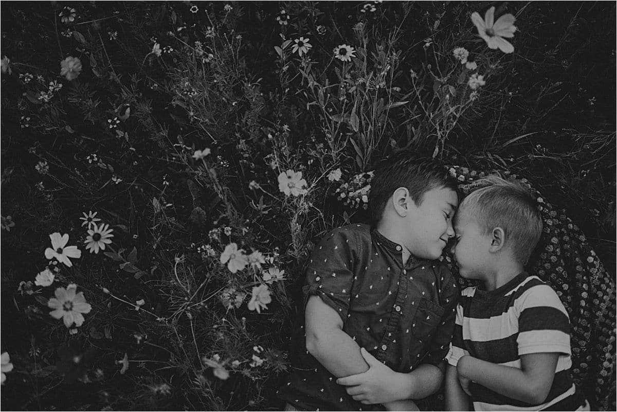 Brothers Touching Foreheads