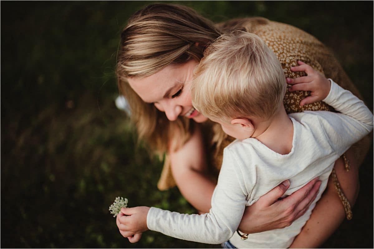 Mama Hugging Little Boy