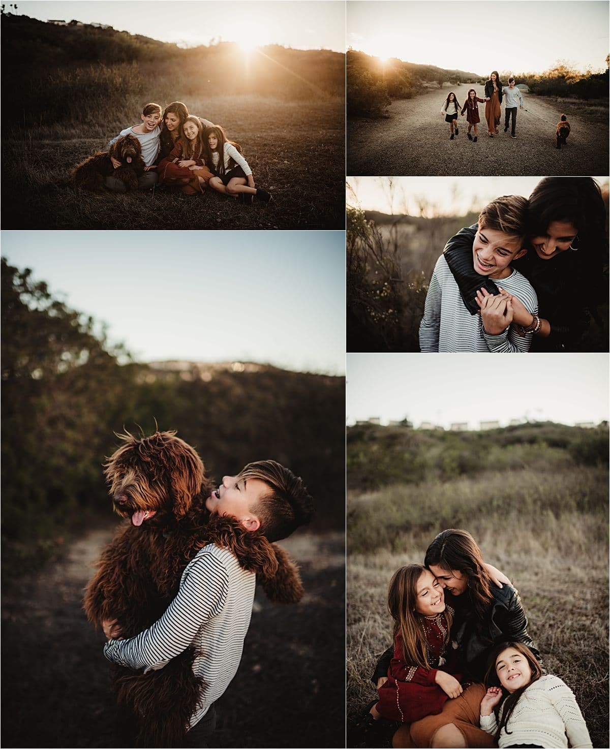 Boho Family Session in Field