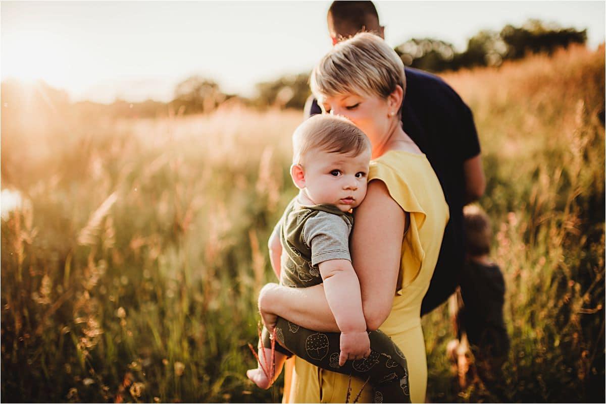 Mama Holding Little Boy