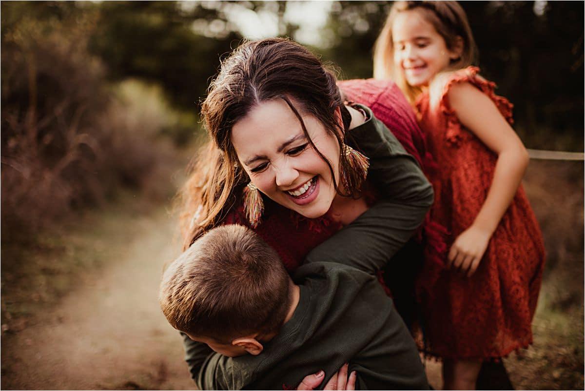 Kids Hugging Mama