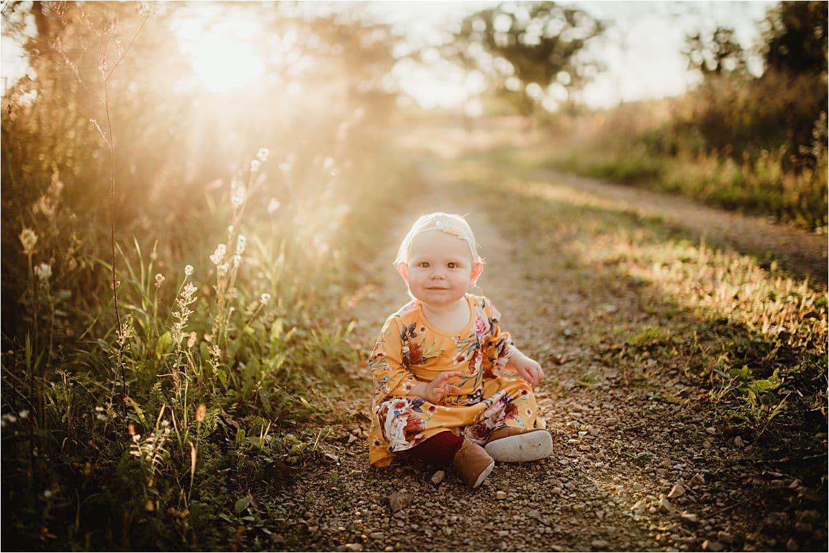 Baby Girl on Path