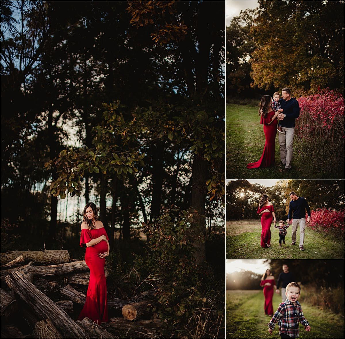 Fall Family Maternity Session at Park