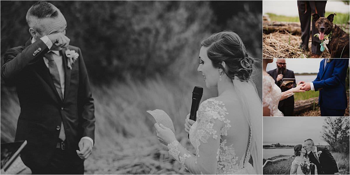 Coastal Beachfront Wedding Ceremony