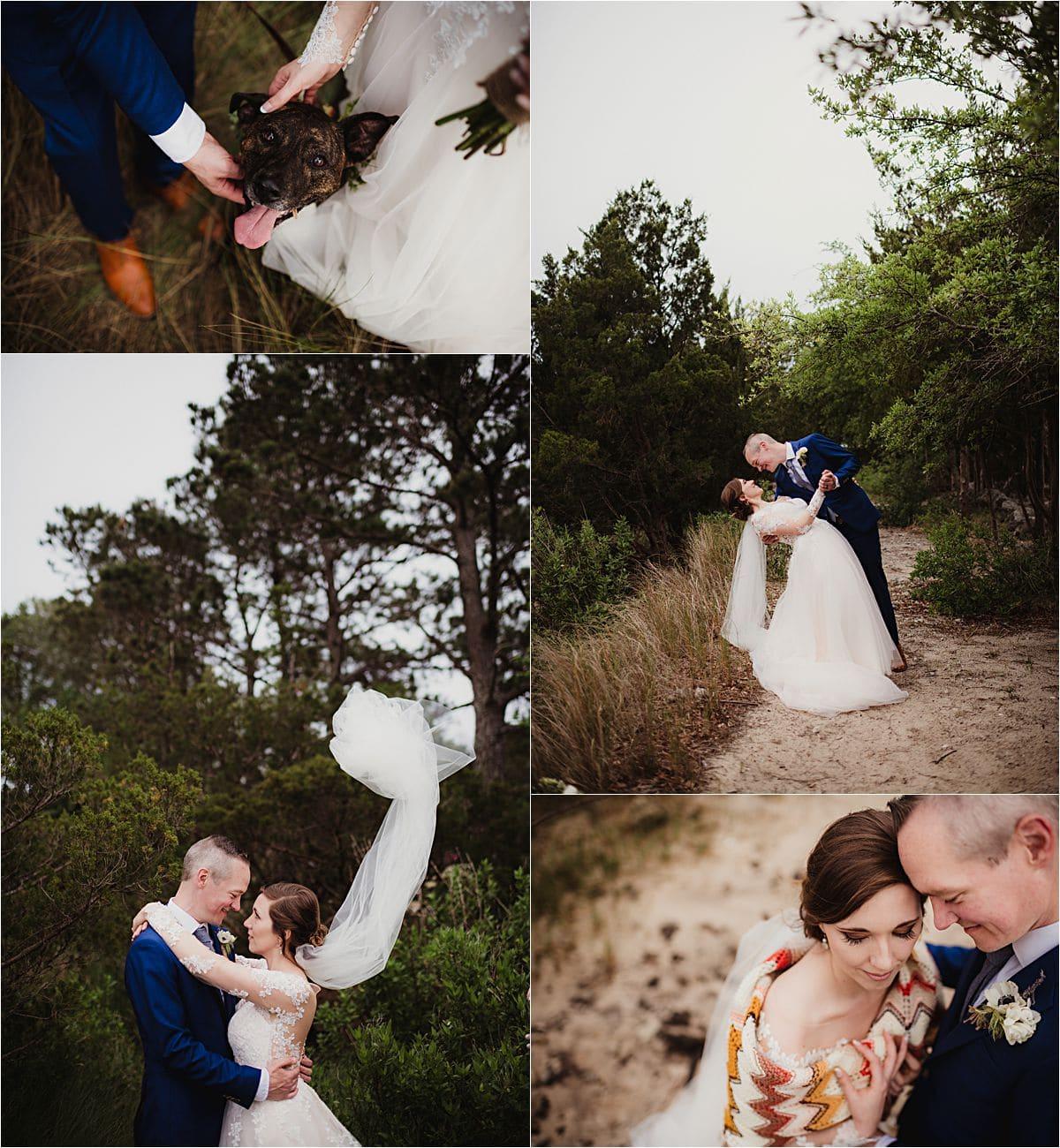 Coastal Beachfront Wedding Couple on Beach