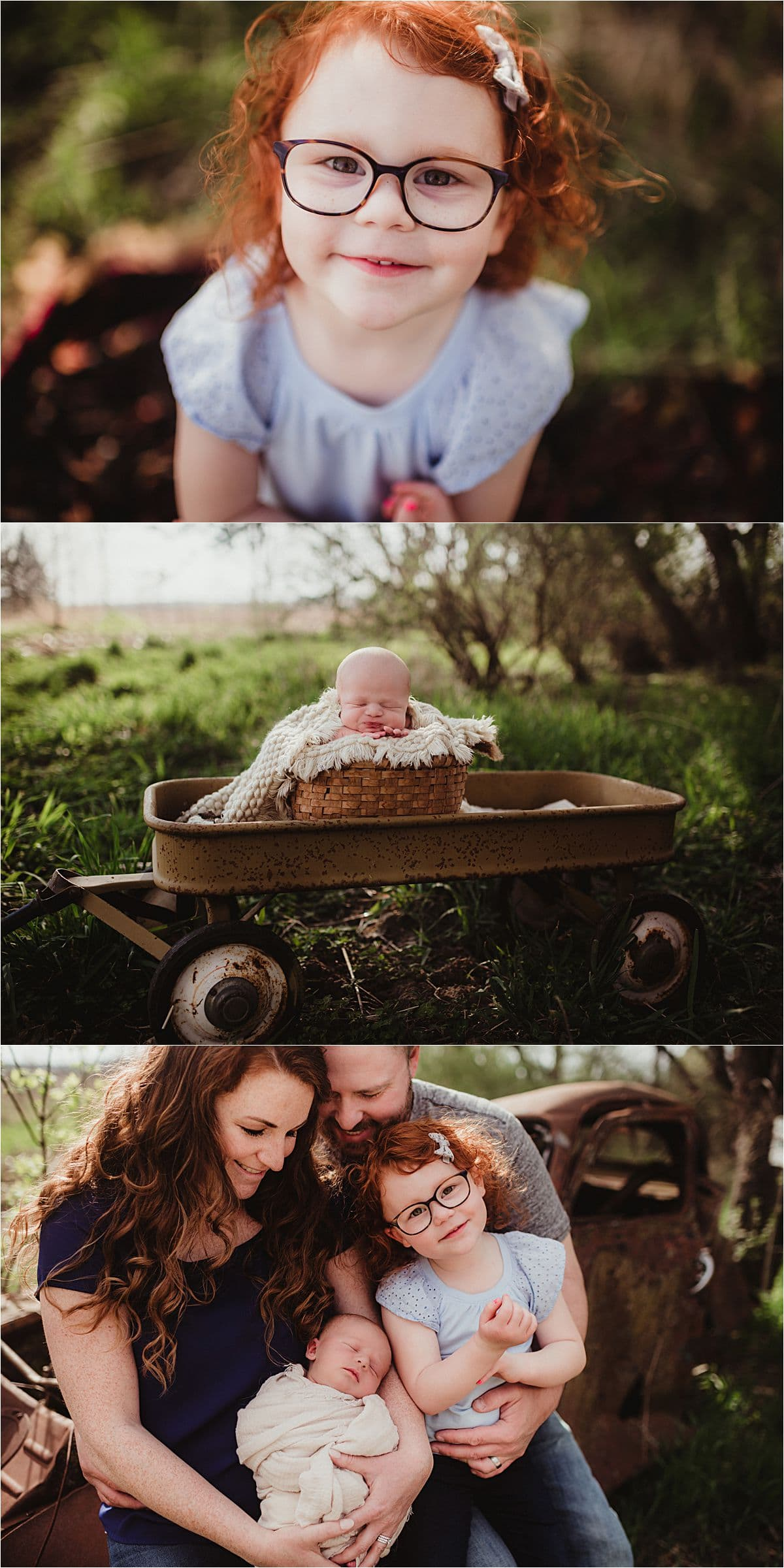 Spring Family Newborn Session