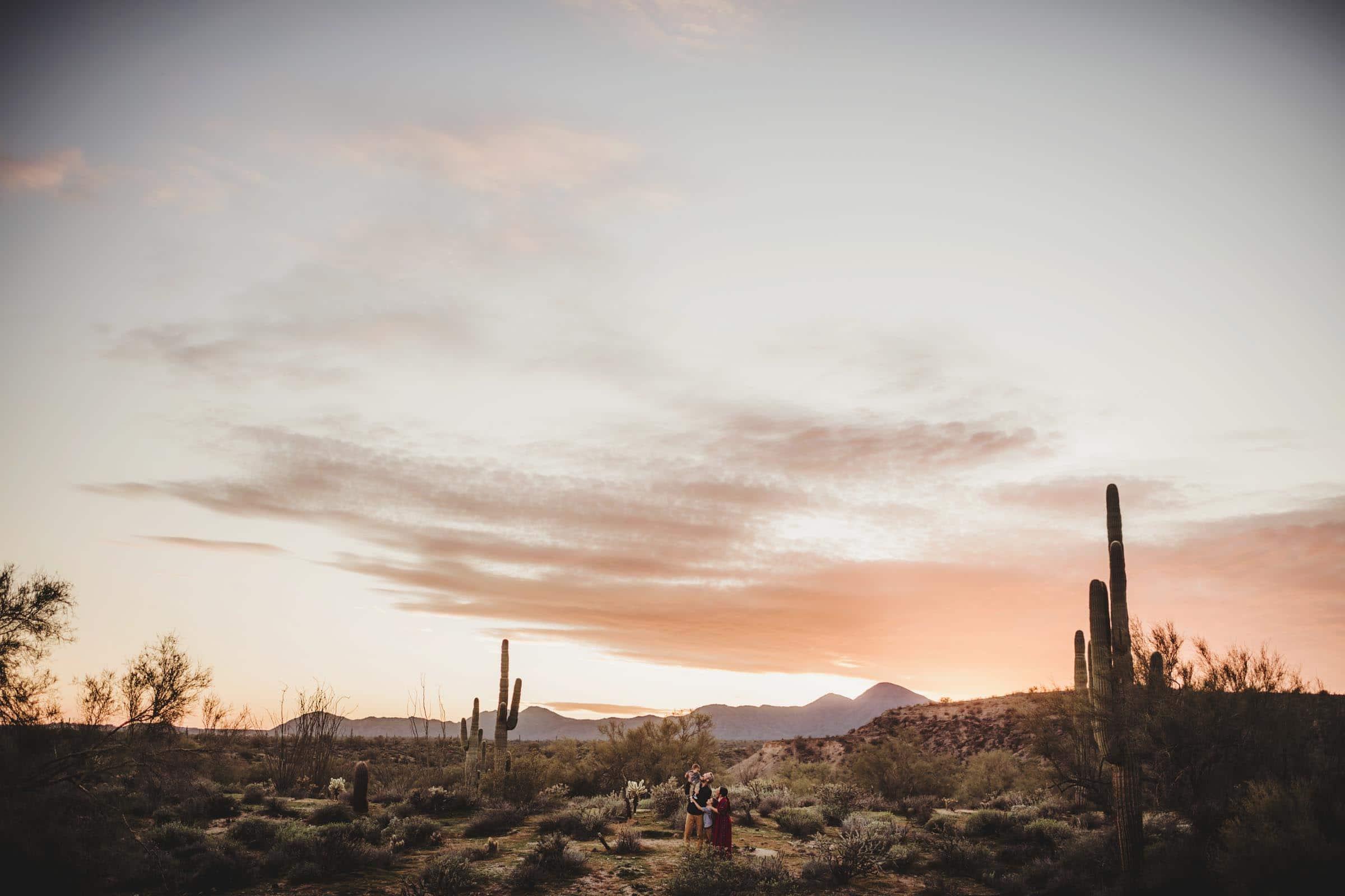 Arizona Desert Sunset Family