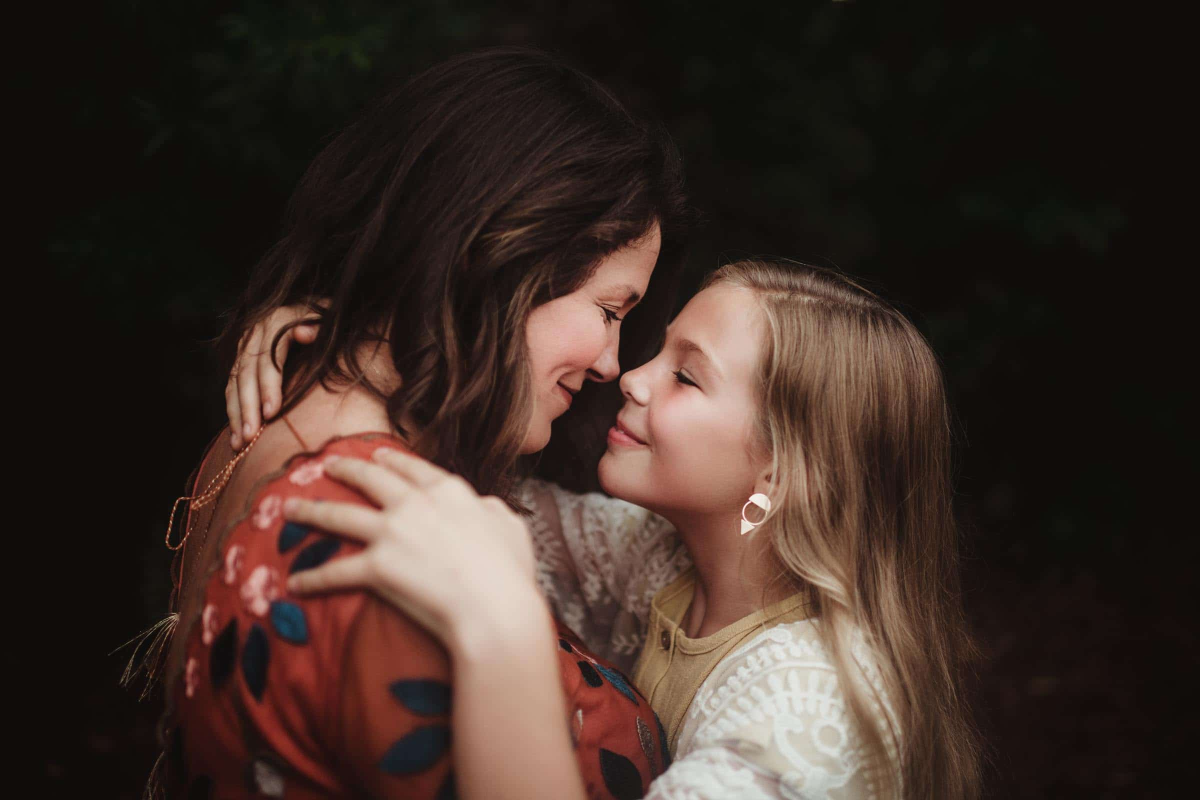 Mom and Daughter Looking at Each Other