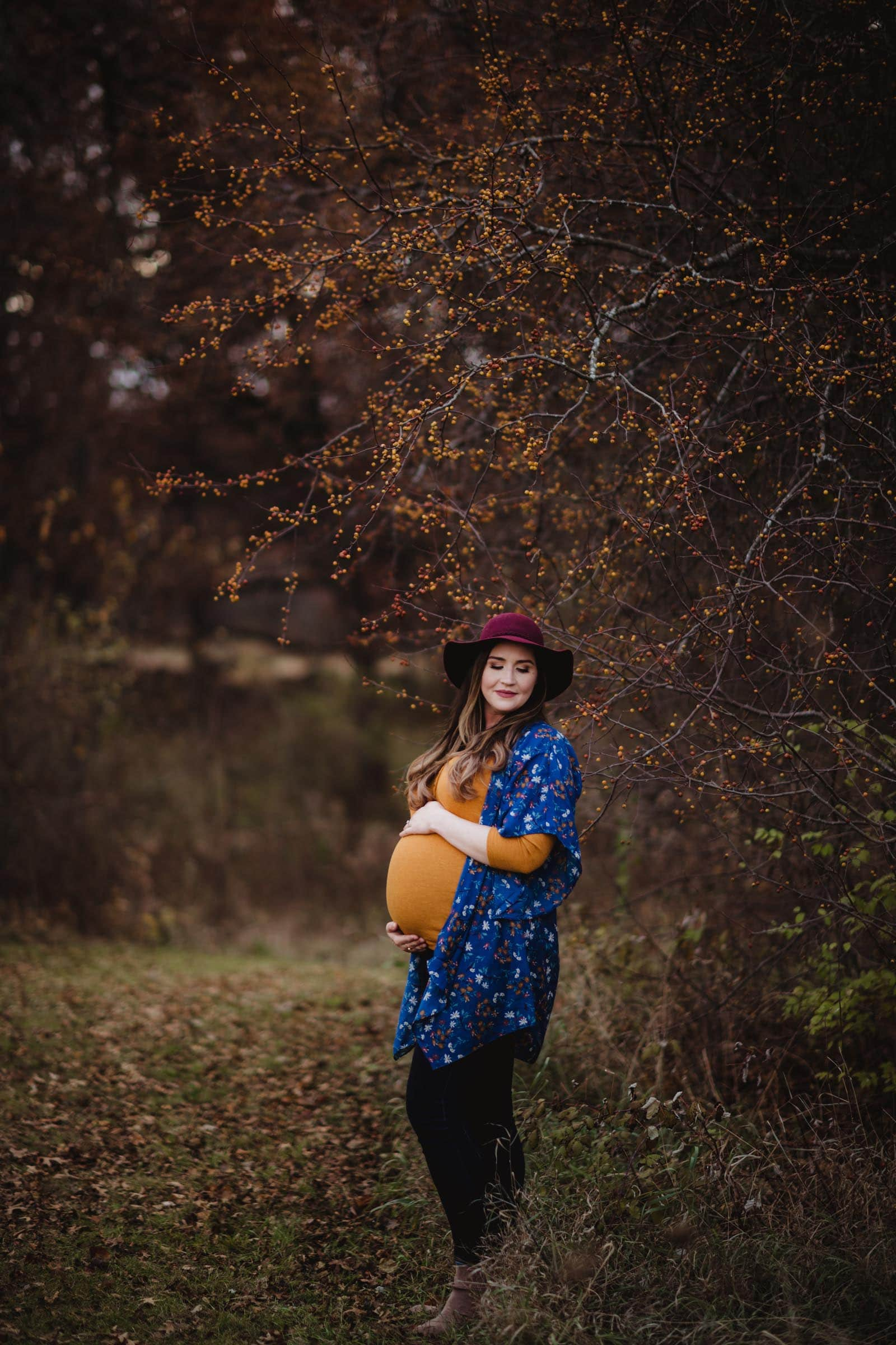 Pregnant Woman in Hat