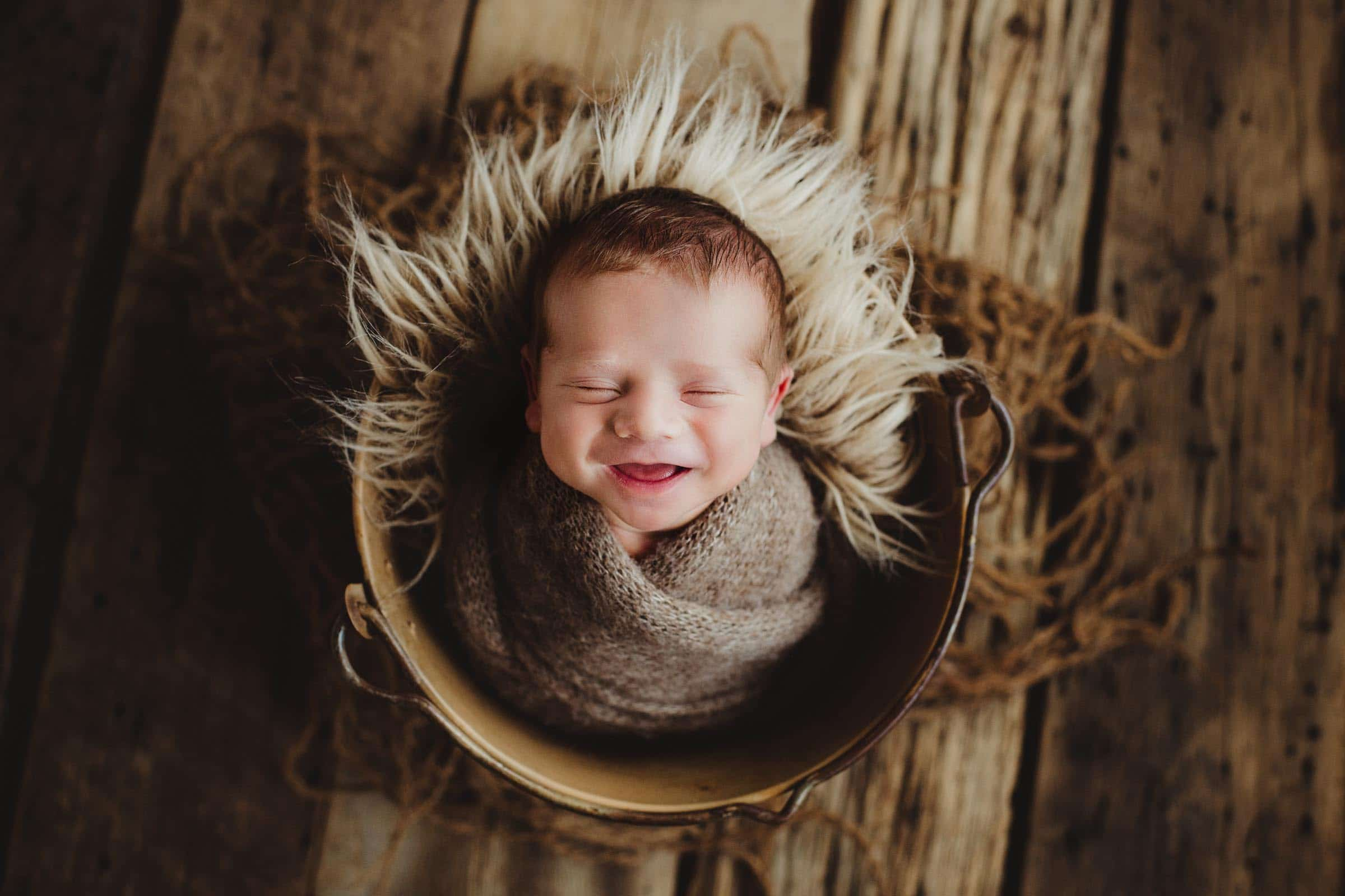 Newborn Boy Laughing