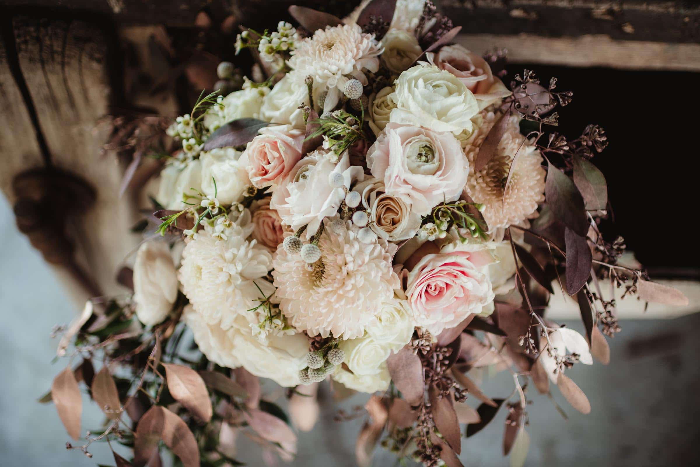 Close Up Bride's Bouquet