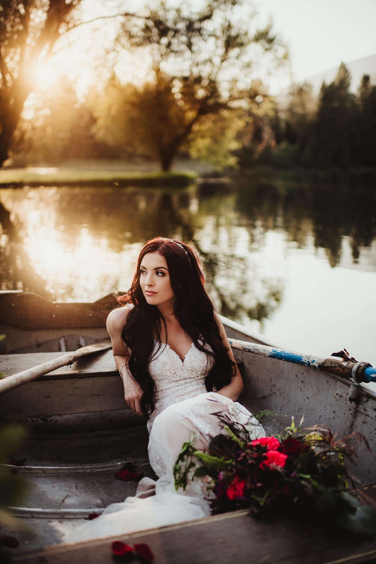 Bride in Canoe