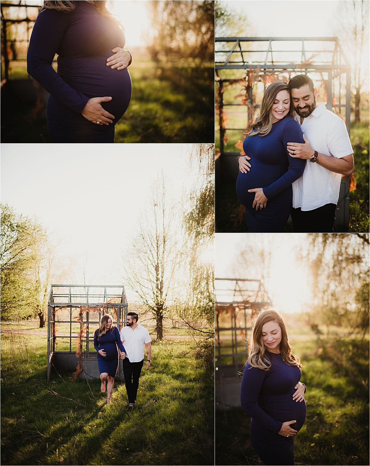 Spring Golden Hour Maternity Session