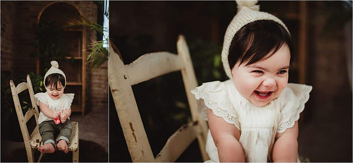 Baby Girl in Hat Smiling