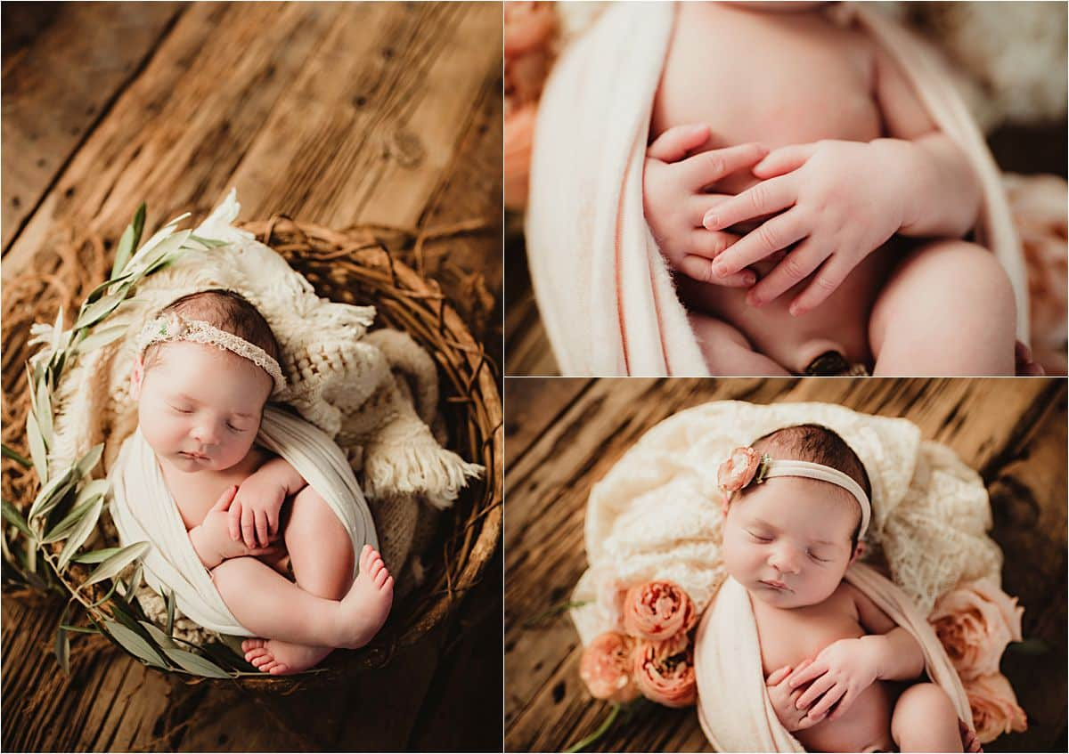 Botanical Newborn Session Close Up Details