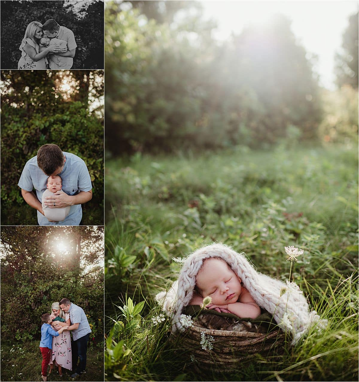 Spring Sunset Family and Newborn Session