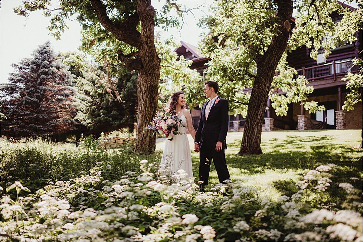 Summer Micro Wedding Couple in Field