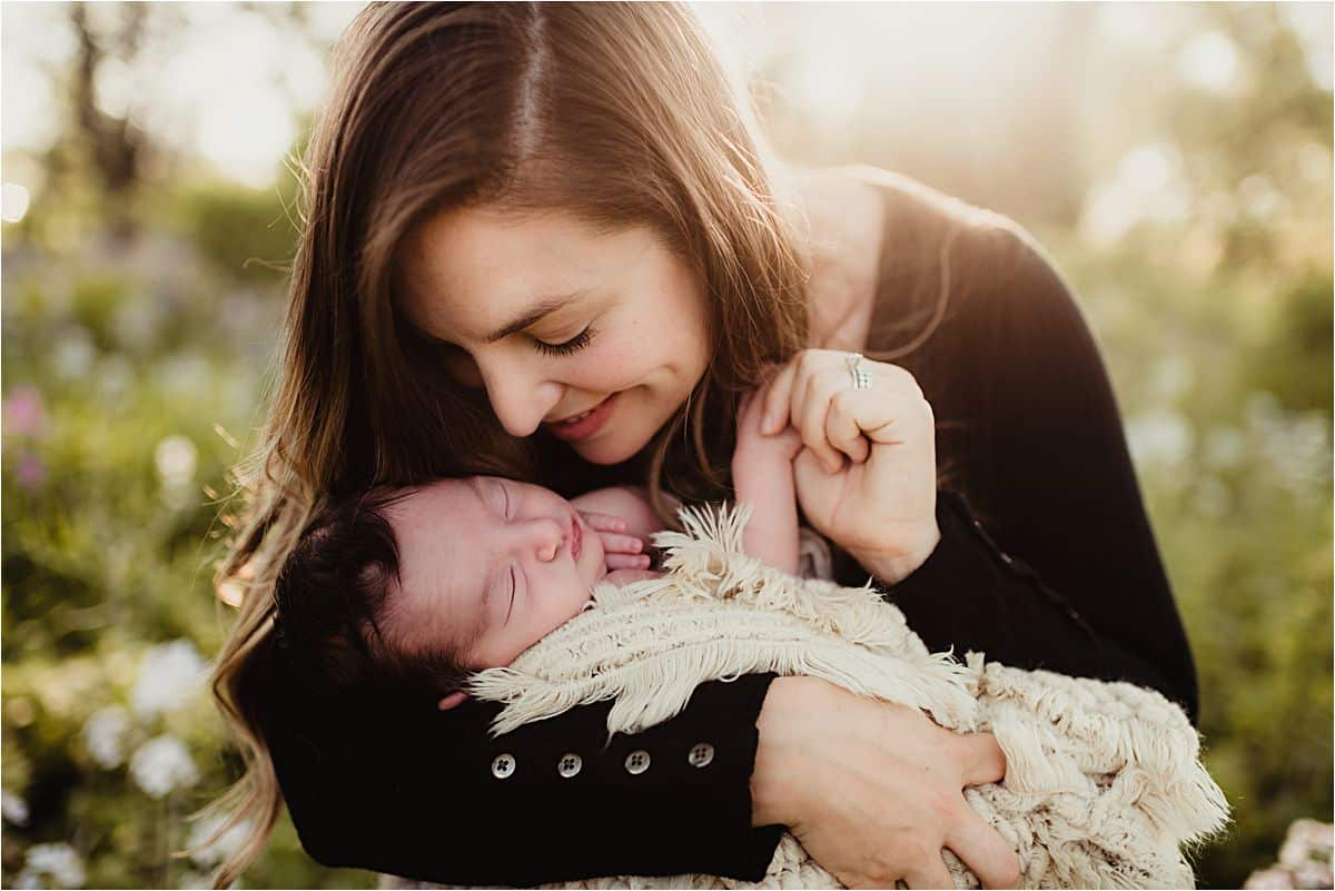 Mama Snuggling Newborn