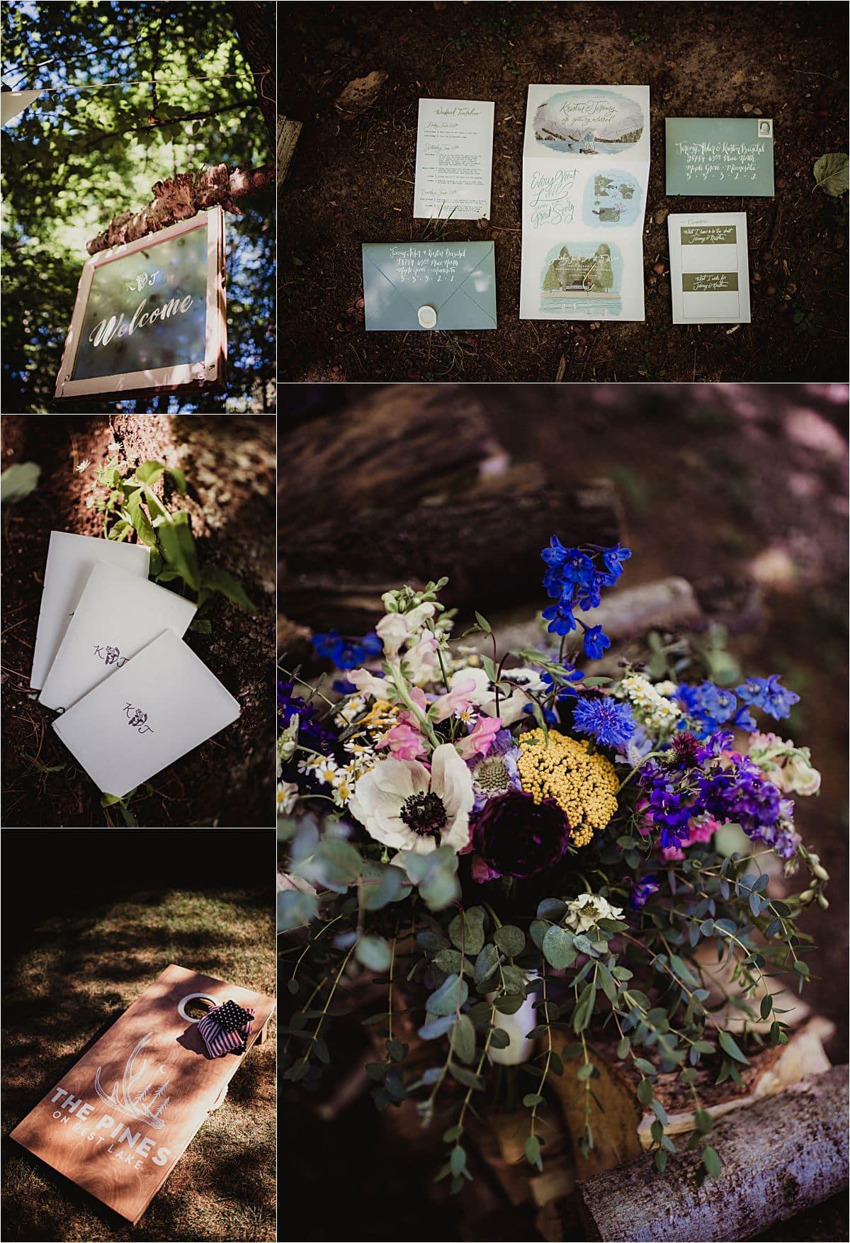 Northwoods Lakefront Summer Wedding Details
