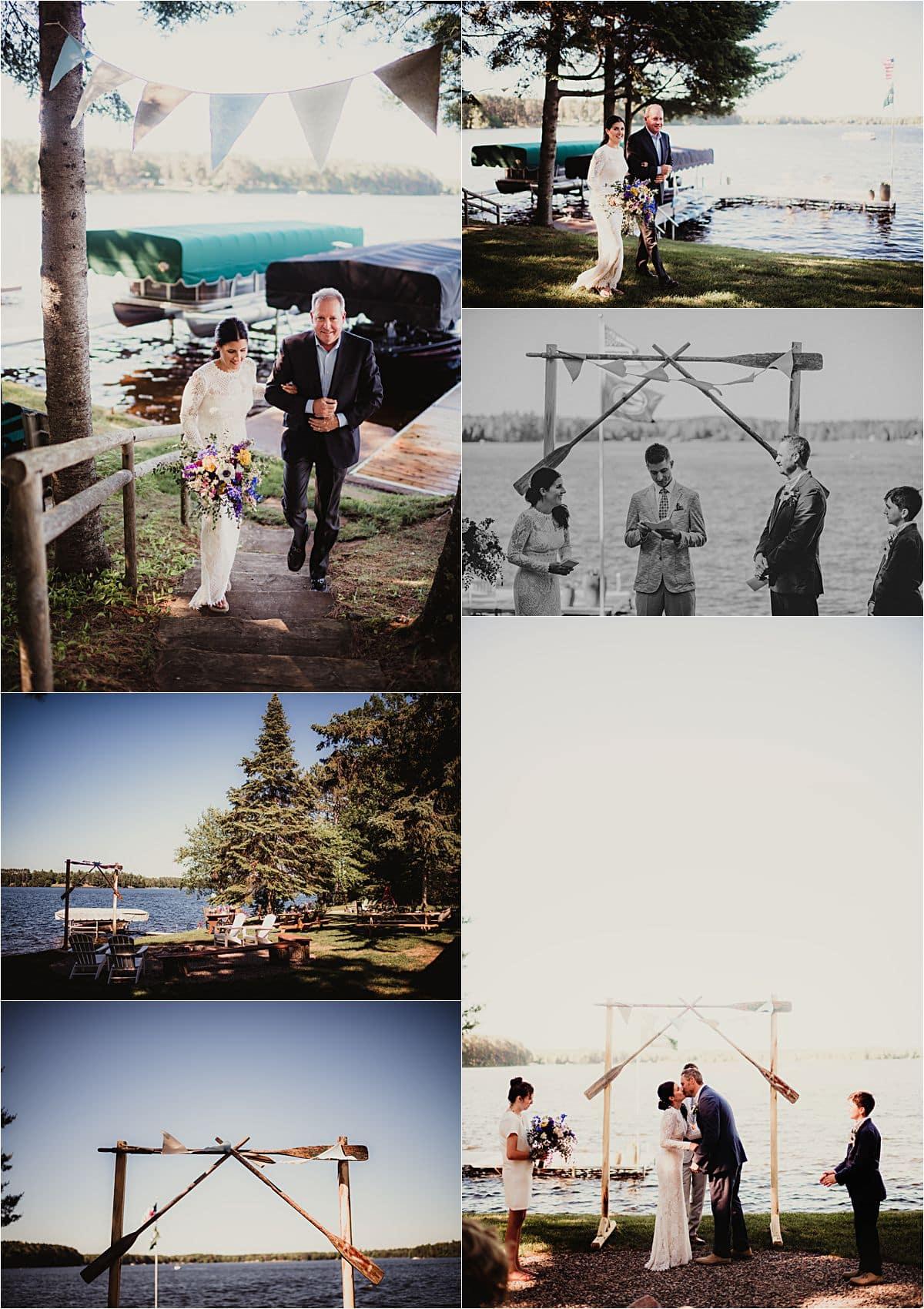 Northwoods Lakefront Summer Wedding Ceremony