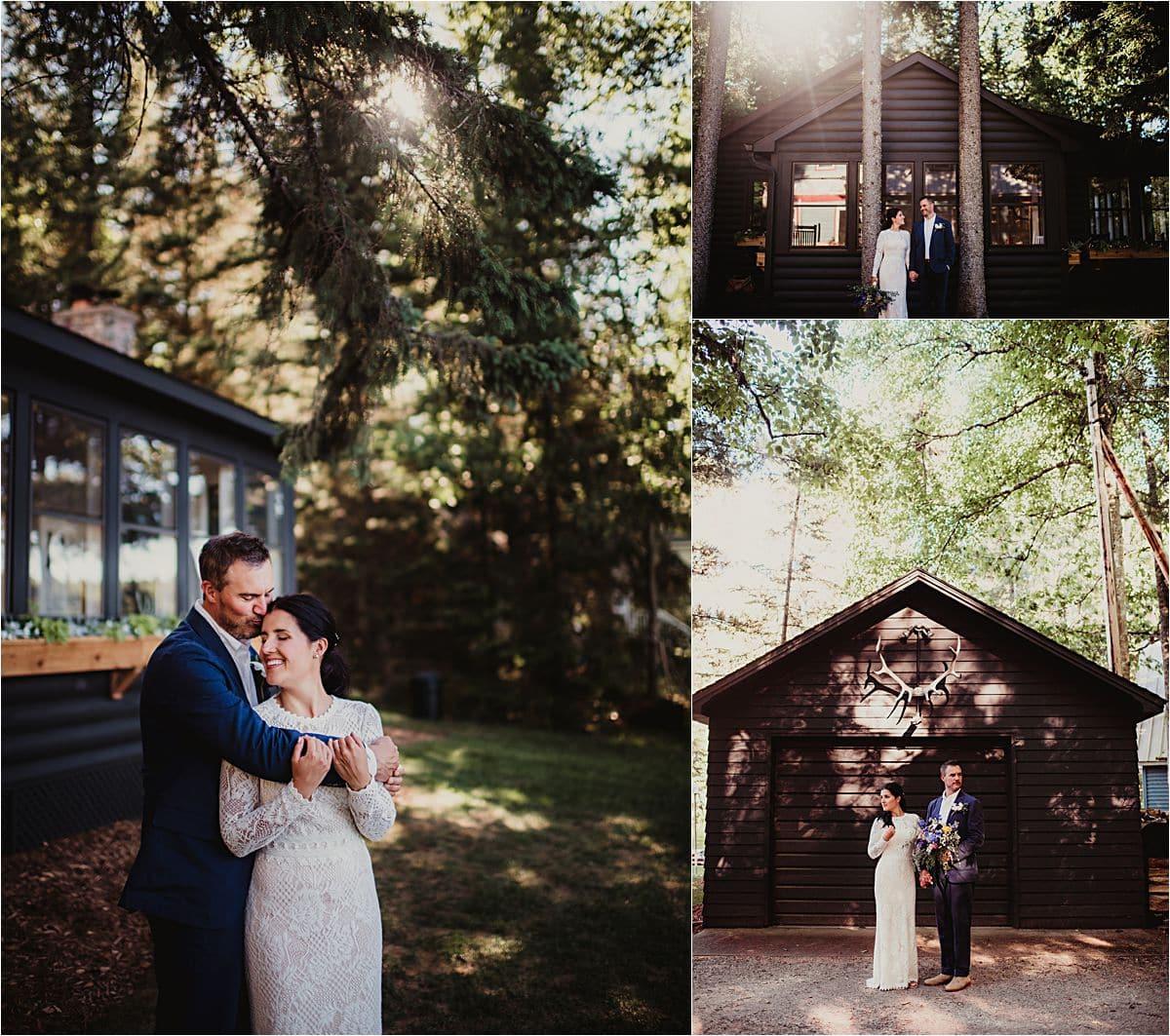 Couple Near Cabin