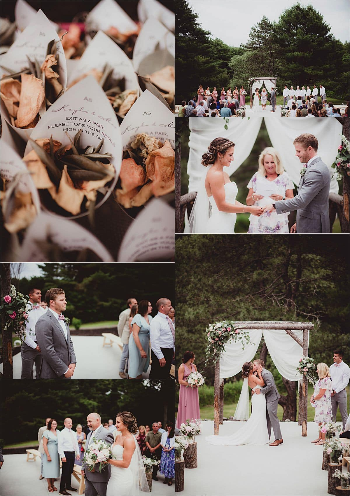 Southern Maine Barn Wedding Ceremony