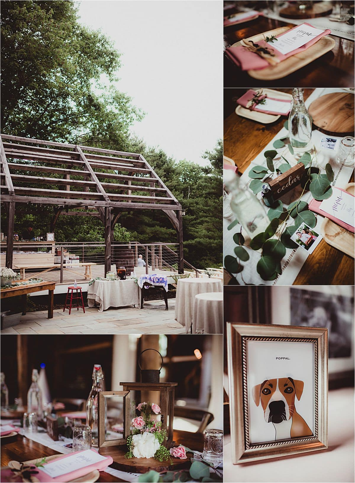 Southern Maine Barn Wedding Reception Details