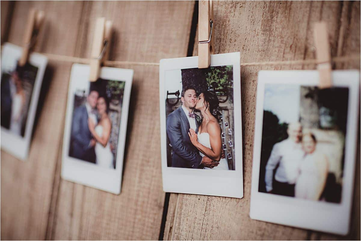 Poloroids of Bride and Groom