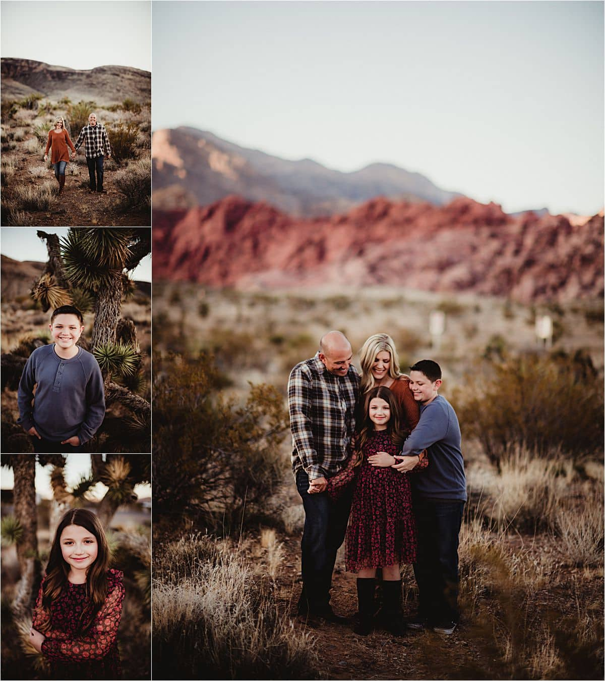 Family in Desert Canyon
