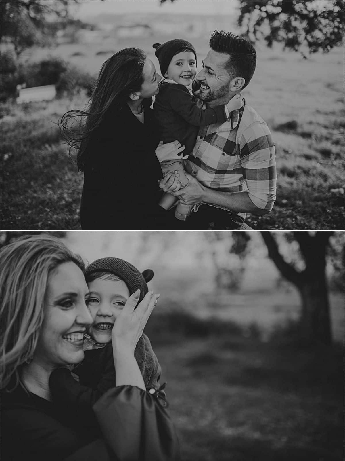 Moody Skies Travel Family Session Parents with Kids